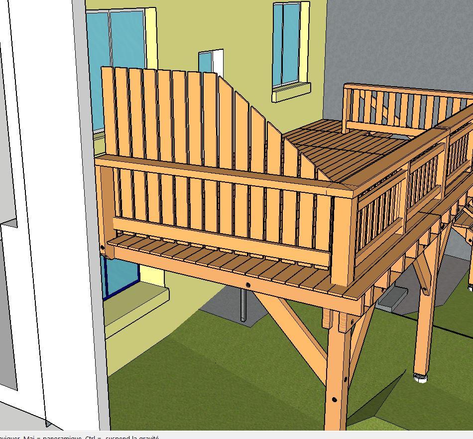Brise Vue Terrasse Bois terrasse sur pilotis - ▷ le guide des terrasses en bois