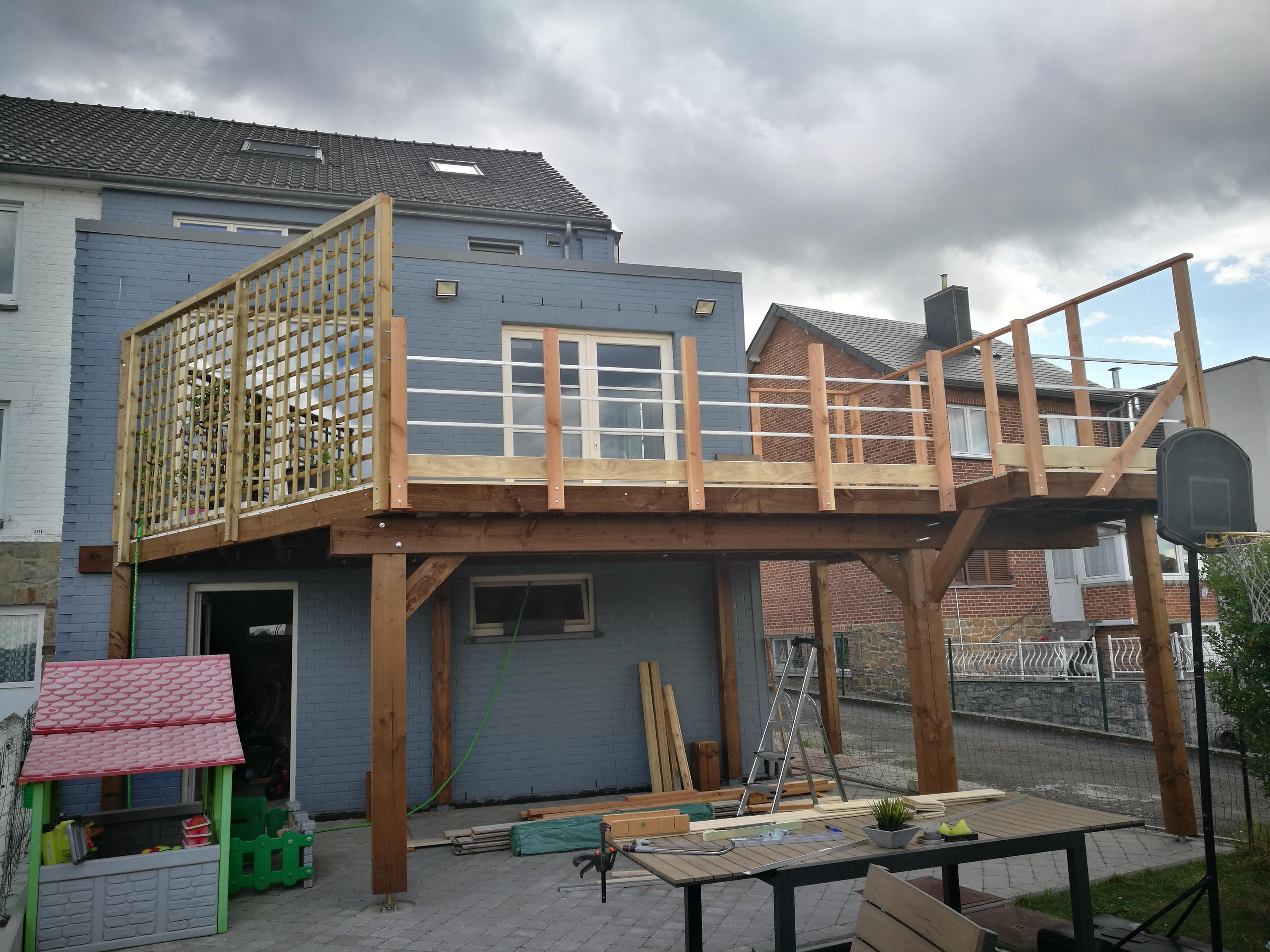 Structure Terrasse Bois Surélevée terrasse sur pilotis - ▷ le guide des terrasses en bois