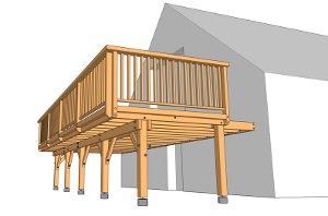 Une terrasse sur pilotis transfigure une habitation for Fabriquer une terrasse en bois sur pilotis
