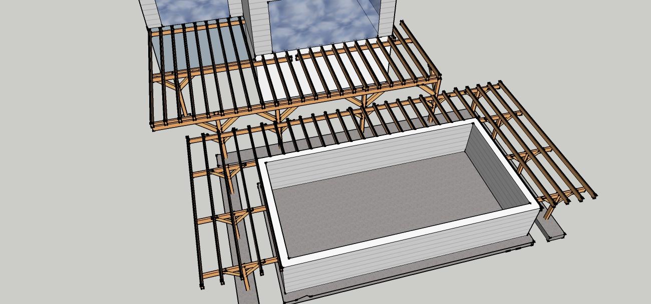 Construire une terrasse en bois sur pilotis fashion designs for Piscine sur pilotis