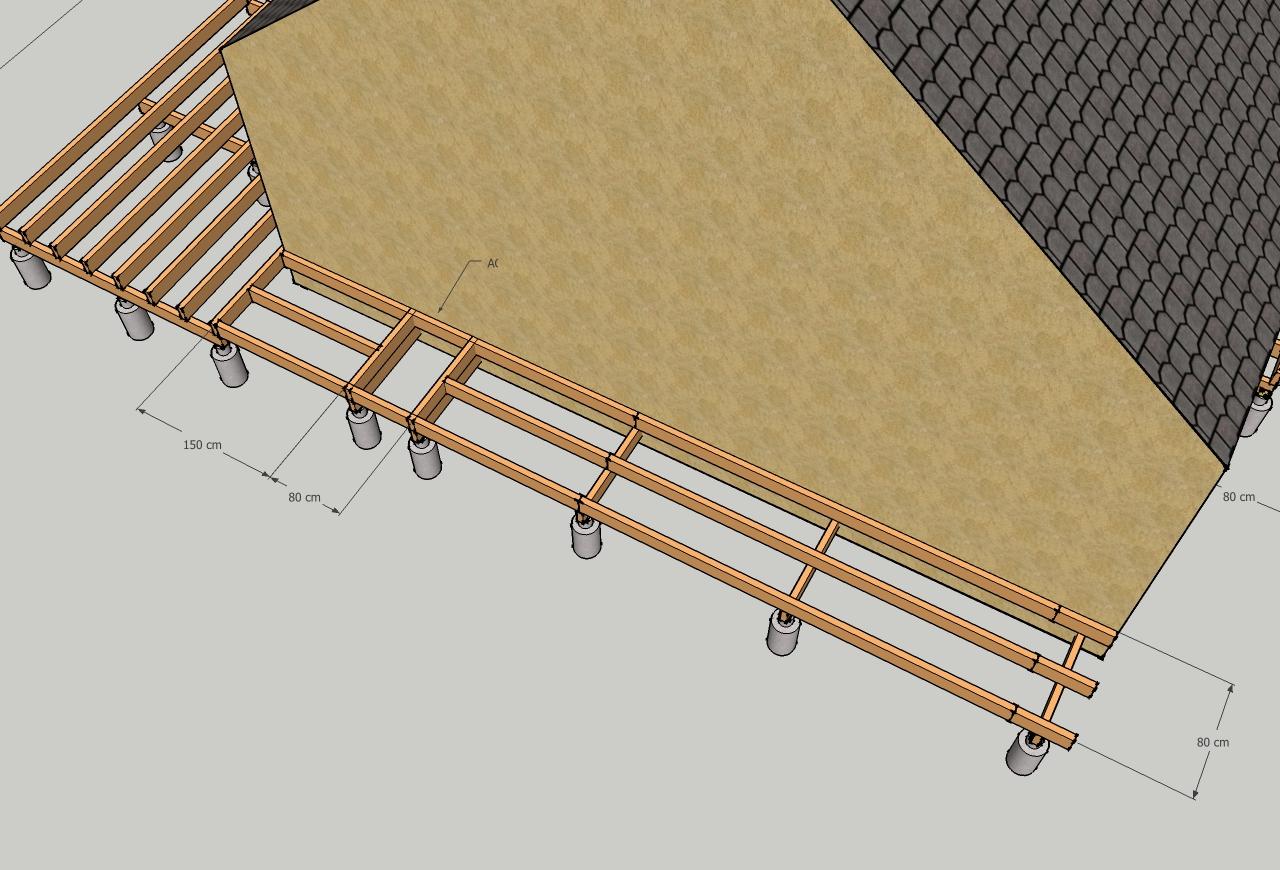 Type de structure  Sur poutres porteuses