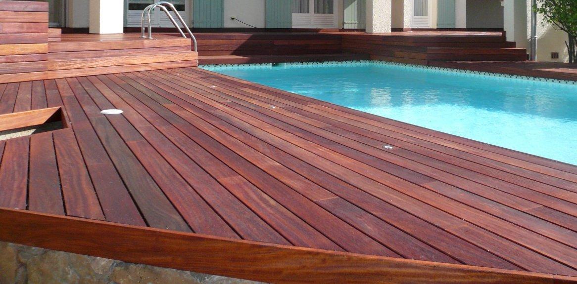 Lames en padouk terrasse en bois comment construire - Terrasse bois padouk ...