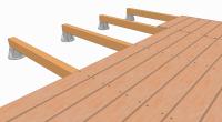 la pose sur plots plastique r glables terrasse en bois comment construire votre guide. Black Bedroom Furniture Sets. Home Design Ideas