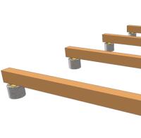 pose d'une terrasse en bois sur plots en béton - terrasse en bois ... - Comment Faire Une Terrasse En Bois Sur Plot Beton