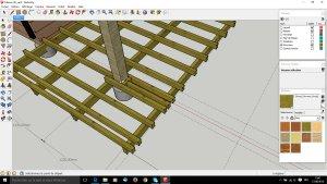 la pose sur poutres porteuses terrasse en bois comment construire votre guide. Black Bedroom Furniture Sets. Home Design Ideas