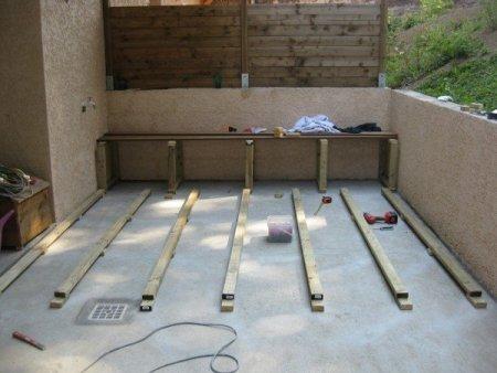 la pose sur dalle le guide des terrasses en bois pour. Black Bedroom Furniture Sets. Home Design Ideas